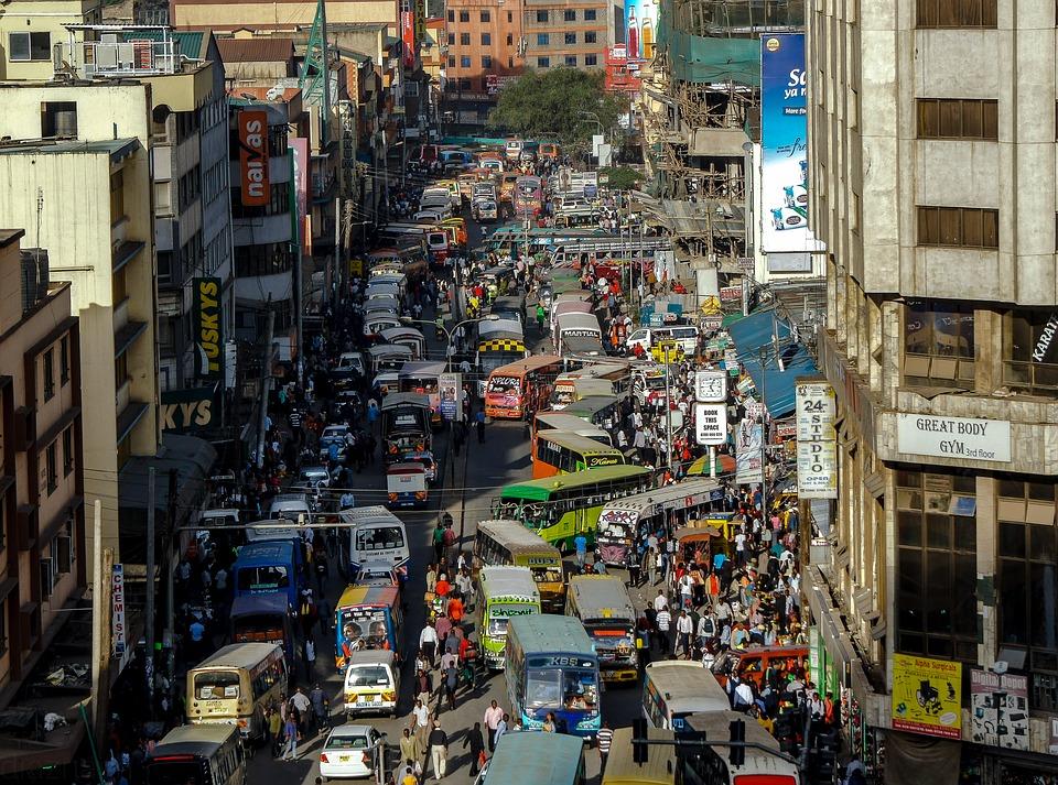 La ville de Nairobi au Kénya