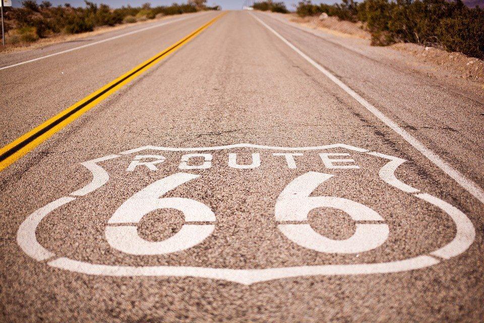 La mythique route 66 dans le grand Ouest Américain